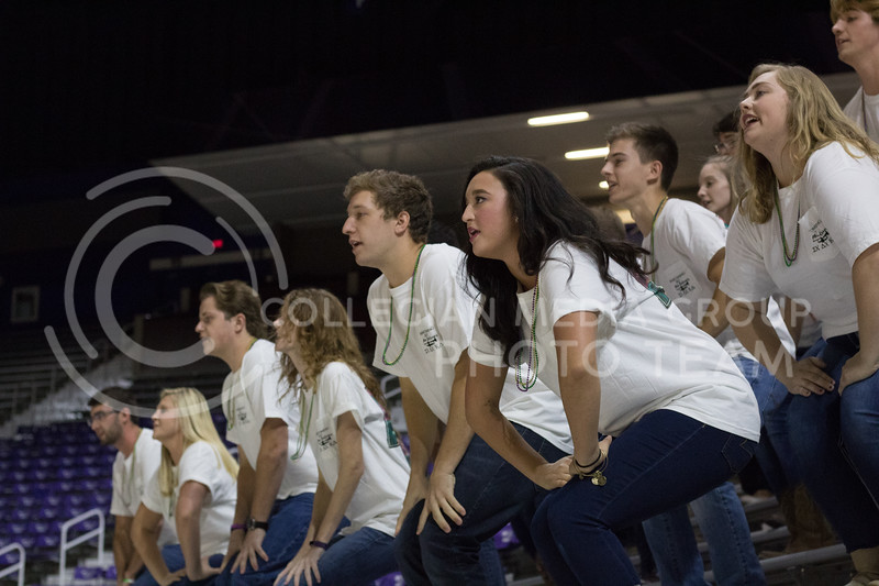 Kappa Delta, Delta Chi, and Sigma Chi performing at Pant the Chant at Bramlage on October 15th, 2017. (Kelly Pham | Collegian Media Group)