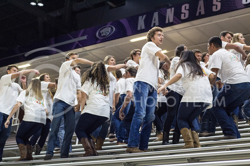 Pi Beta Phi, Phi Delta Theta, and Phi Kappa Theta at Pant the Chant at Bramlage on October 15th, 2017. (Kelly Pham | Collegian Media Group)