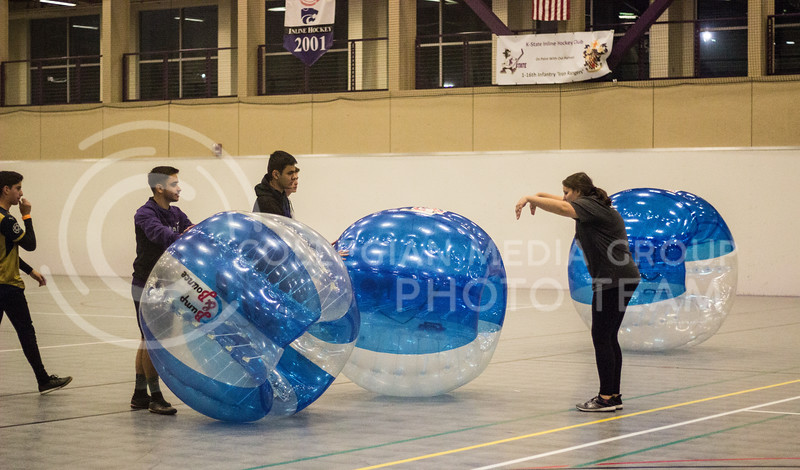 Kansas State Union Program Council host a bubble soccer event at the Recreational Center on November 3rd, 2017. (Kelly Pham | Collegian Media Group)