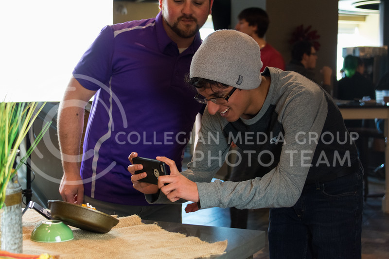 Students that attended Cultivate You at the Kramer Dining Center on February 21, 2018 were able to make their lunch and learn about food photography from Housing and Dining's Alex Abendschein. (Alex Todd | Collegian Media Group)