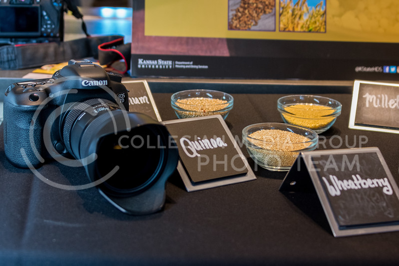 """Part of the """"Cultivate You"""" experience on February 21, 2018 at Kramer Dining Center was a workshop on food photography. (Alex Todd 