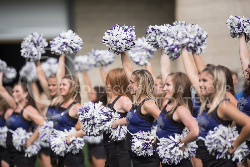 The Kansas State Classy Cats perform during the game against the Texas Christian University Horned Frogs at Bill Snyder Family Stadium in Manhattan, KS, on Oct. 14,2017. (Olivia Bergmeier   Collegian Media Group)