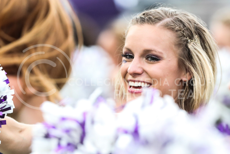 Brittany Rouse of the Classy Cats performs during the halftime show at the Kansas State University vs Baylor University football game. (Photo by Cooper Kinley | Kansas State Athletics)