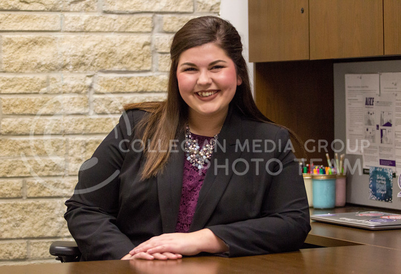 Attorney General of the Judicial Board at K-State, Haley Hannaman shares with me what the Judicial Branch does for K-State's Student Governing Association. ( Sabrina Cline | The Collegian Media Group)