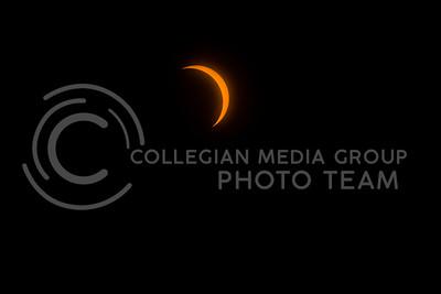 Full solar eclipse as viewed from Du Bois, NE on Aug. 21, 2017. (Nathan Jones | Collegian Media Group)