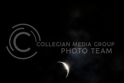 Full solar eclipse as viewed from Du Bois, NE on Aug. 21, 2017. (Nathan Jones | Collegian Media Group)