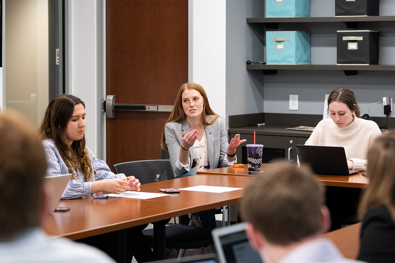K-State Student Body President Jordan Kiehl talks about potential changes to the course schedule system during the SGA cabinet meeting on November 1, 2018. (Alex Todd | Collegian Media Group)