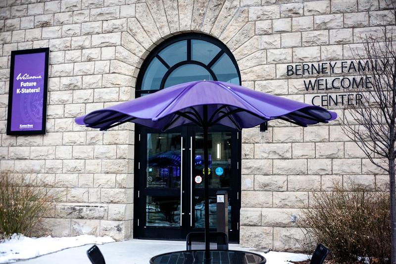 Outside shot of the Bernie Family Welcome Center on Nov. 22, 2019. <br /> (Alanud Alanazi   Collegian Media Group)