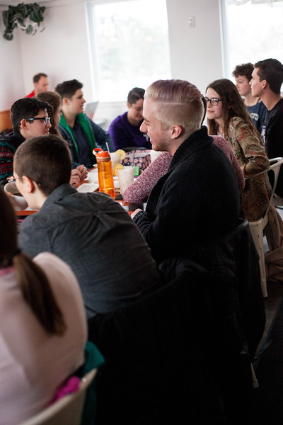 Listening in, members discuss the topic of deconstructing love in the media during the Nov. 22, 2019 Fiminist Firday meet. <br /> (Alanud Alanazi | Collegian Media Group)