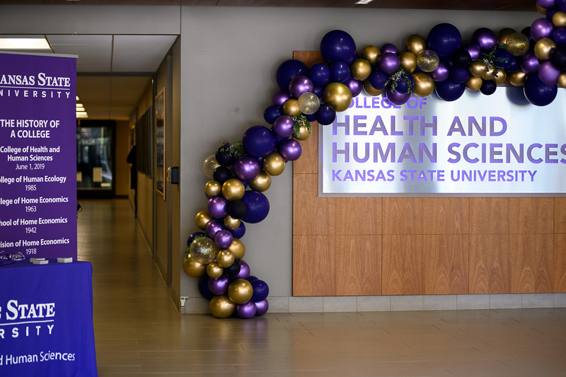 Sign inside the renamed College of Health and Human Sciences building. Oct 25, 2019. (Dylan Connell | Collegian Media Group)