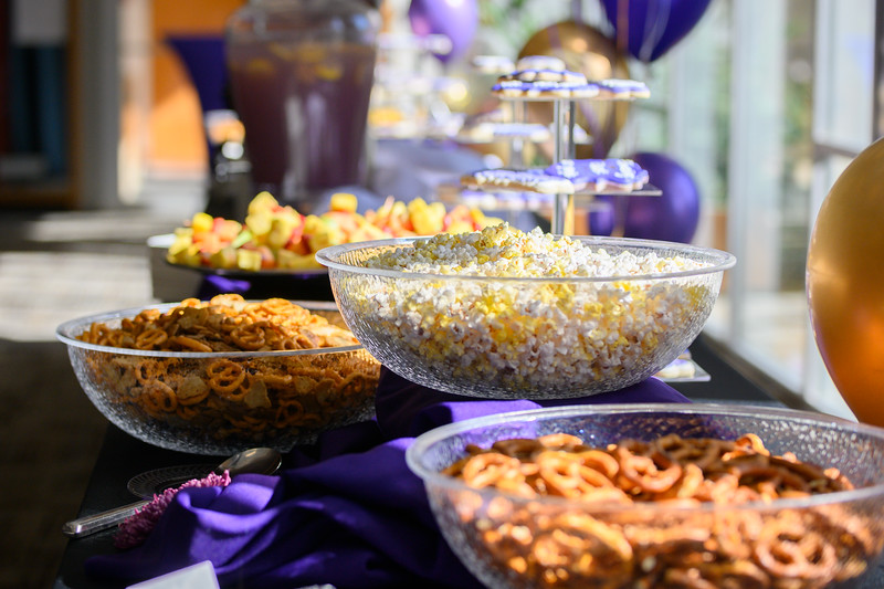 Food displayed for faculty and the public during the College of Health and Human Sciences name change ceremony. Oct 25, 2019. (Dylan Connell | Collegian Media Group)