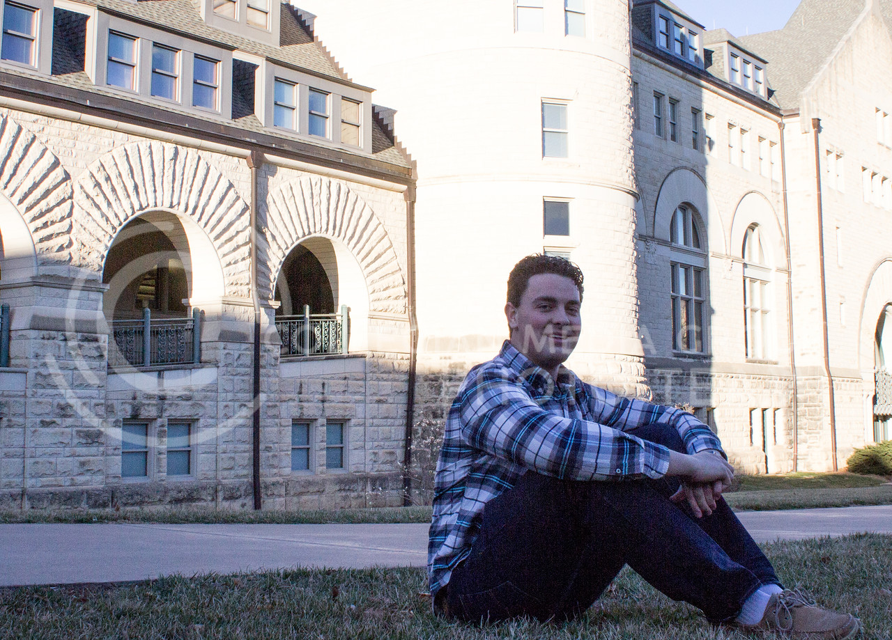 Jaden Jeffery, freshman in kinesiology, sits out side of Hale Library on March 3, 2017. (Regan Tokos | The Royal Purple)