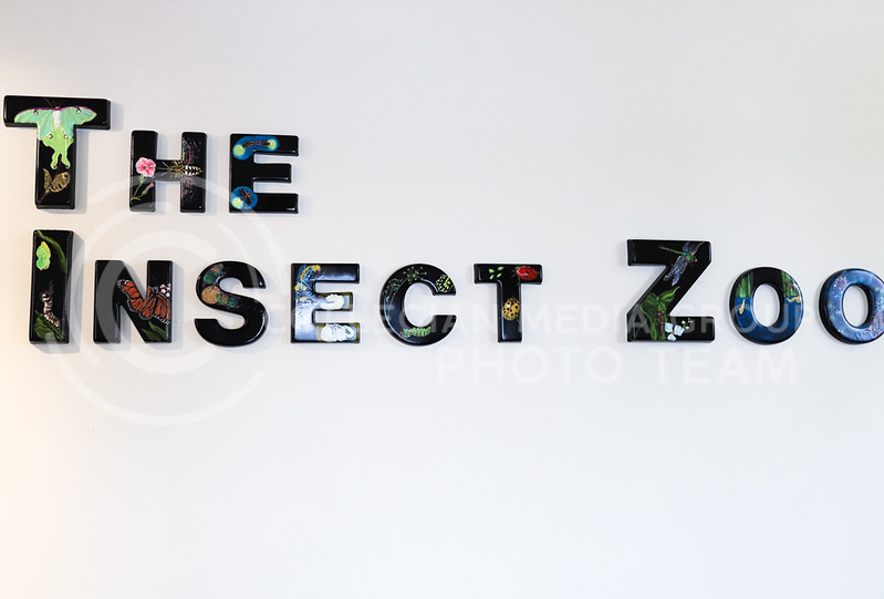 The Insect Zoo sign. (Monica Melber | Collegian Media Group)