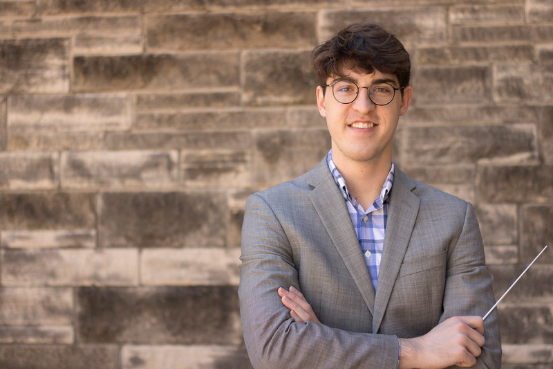 Joshua Arnoldy, senior, is one of a handful of students in Kansas State University's music composition major. (Rafael Garcia   Collegian Media Group)