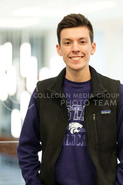 Kansas State University Ambassador, Charles Corredor, pursuing a degree in Financial Management. Charles is also a member of Delta Sigma Phi Fraternity where he has served as a Director of Philanthropy as well as Vice President of Recruitment. February 21, 2020. (Dylan Connell | Collegian Media Group)