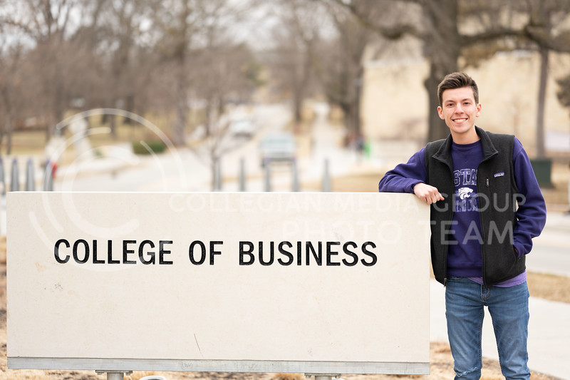 Kansas State University Ambassador, Charles Corredor, pursuing a degree in Financial Management. February 21, 2020. (Dylan Connell   Collegian Media Group)