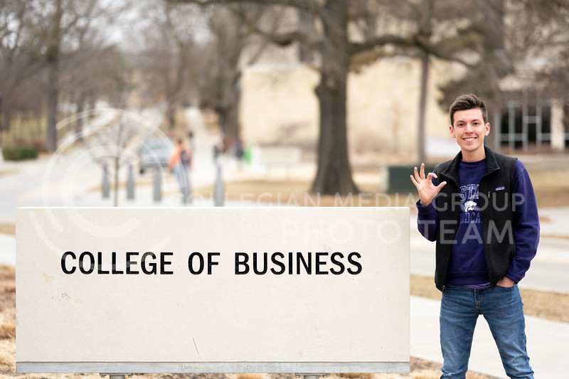 Kansas State University student, Charles Corredor, found a way to give back to K-State by becoming an Ambassador for KSU. He is currently pursuing a degree in Financial Management. February 21, 2020. (Dylan Connell   Collegian Media Group)