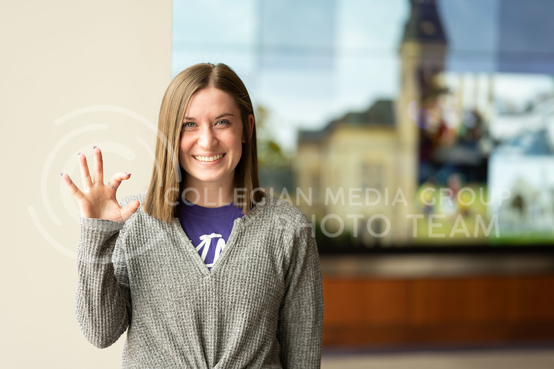 K-State Ambassador, Samantha Bond, junior studying in human development and family sciences. Feb 21 2020. (Dylan Connell   Collegian Media Group)