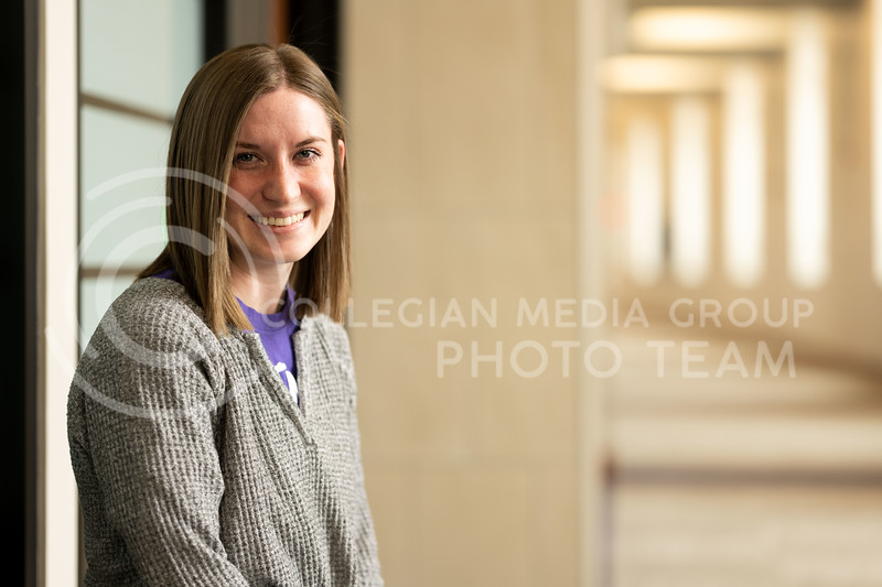 K-State Ambassador, Samantha Bond, junior studying in human development and family sciences. Feb 21 2020. (Dylan Connell | Collegian Media Group)