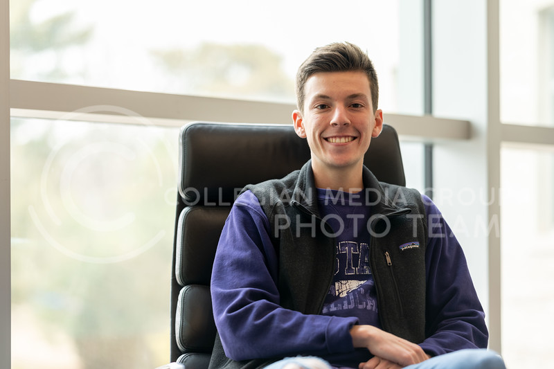 Kansas State University Ambassador, Charles Corredor, pursuing a degree in Financial Management. Charles days consist of, giving campus tours and scheduling visits for prospective students through the office of New Student Services. February 21, 2020. (Dylan Connell | Collegian Media Group)