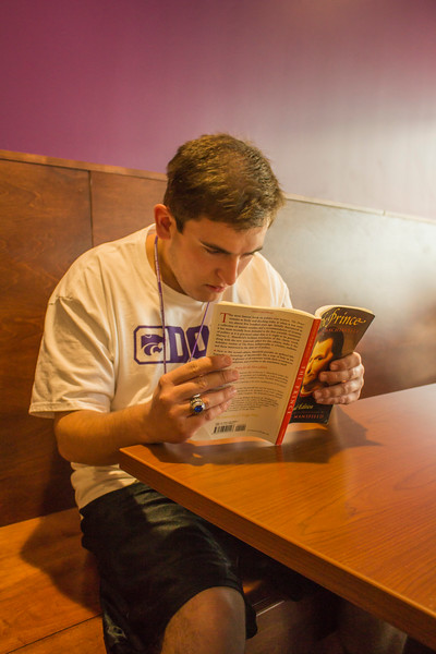 Kansas State University student, Andrew Holland. (Andrea Klepper | Collegian Media Group)