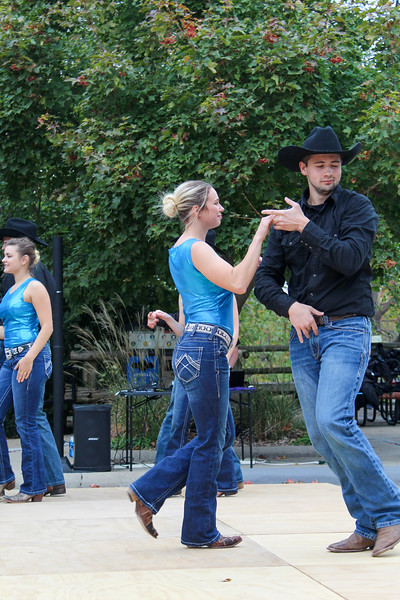 SWINGIN' The Silver Spurs swing dancing club performed at Sunset Zoo Oct 27. The club performed at the zoo during the zoo's Halloween celebration. photo by caroline reynolds