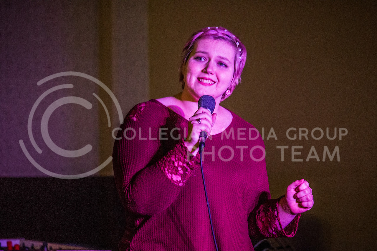 K-State UPC hosts an open mic night in the Wabash Cannon Bowl in Manhattan, Kan. on Nov. 6, 2017. (Logan Wassall | Collegian Media Group)