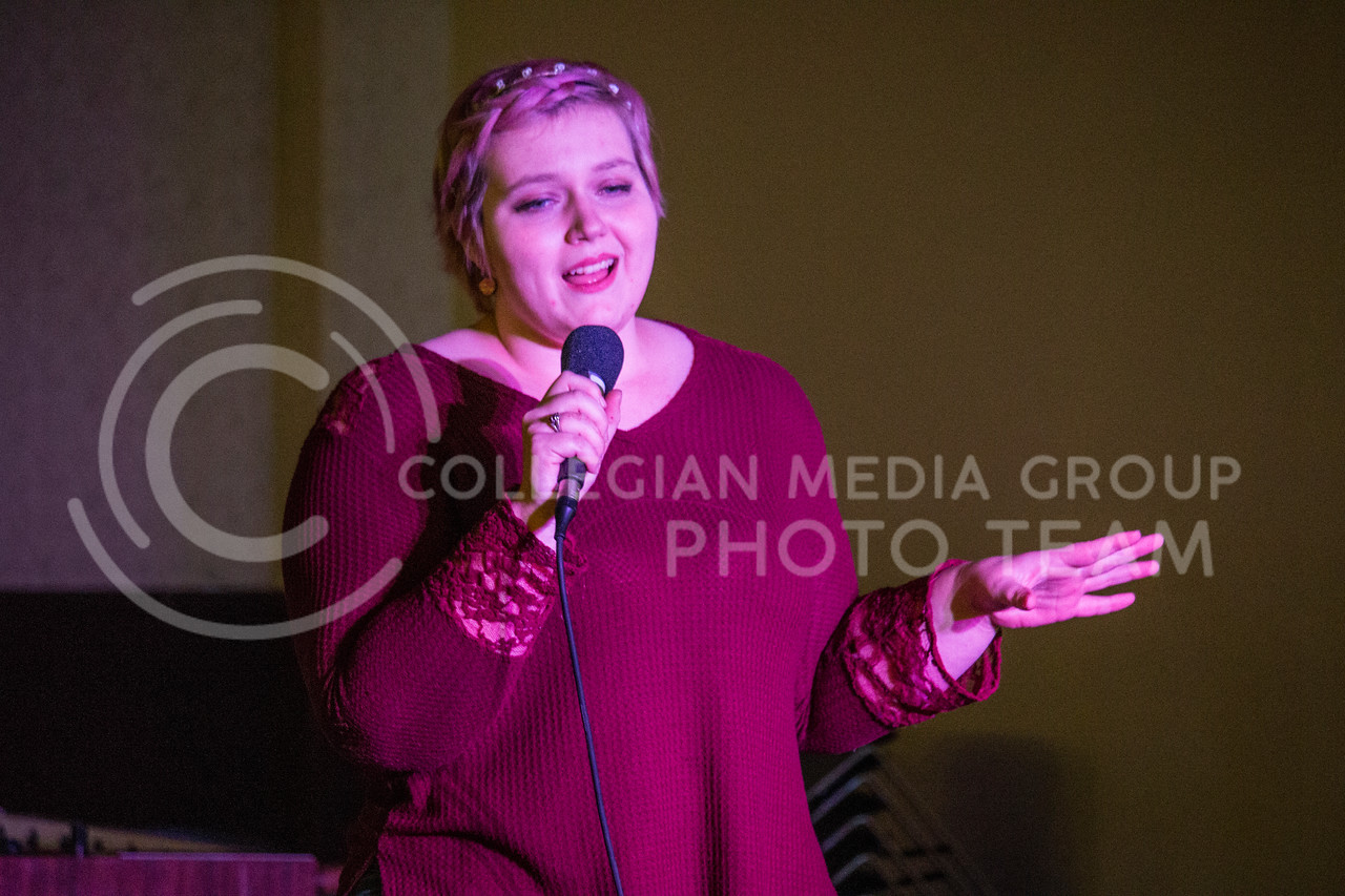 K-State UPC hosts an open mic night in the Wabash Cannon Bowl in Manhattan, Kan. on Nov. 6, 2017. (Logan Wassall   Collegian Media Group)