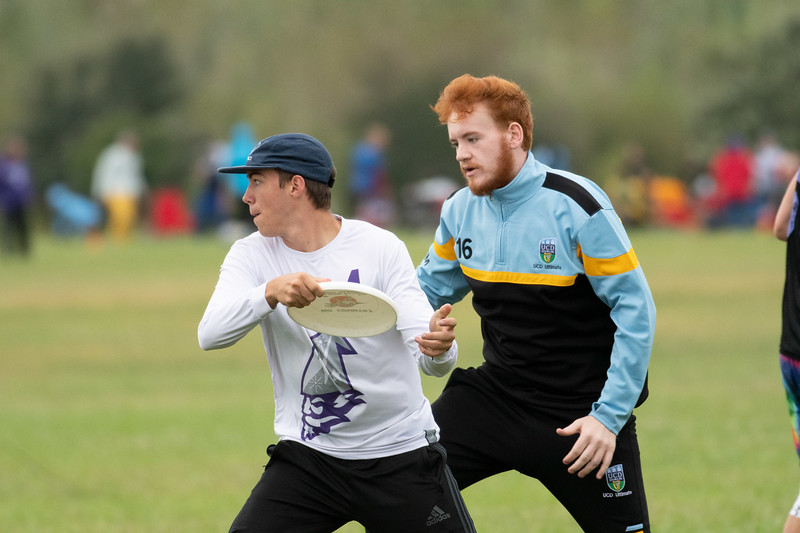 The K-State Wizards face off against the Colorado Y in ultimate frisbee on Sept 28, 2019. (Dylan Connell | Collegian Media Group)