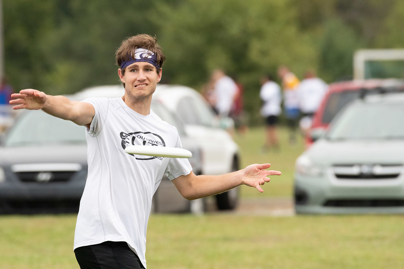 """Matt Deeds is a Freshman majoring in Supply Chain Management. Matt is playing in his second tournament with the K-State Wizards. When asked what he enjoys most about K-State, he replied with """"how diverse K-State is with the amount of clubs that they have to offer"""". Sept 28, 2019. (Dylan Connell 