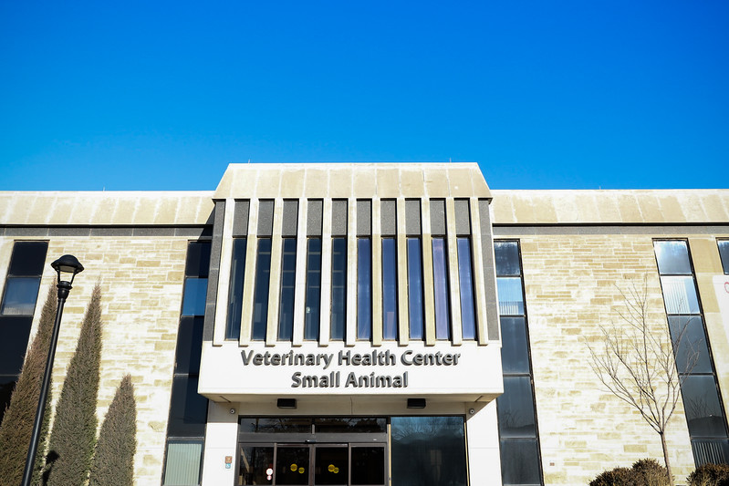 A view of K-State's Veterinary Health Center for small animals. (Monica Melber | Collegian Media Group)