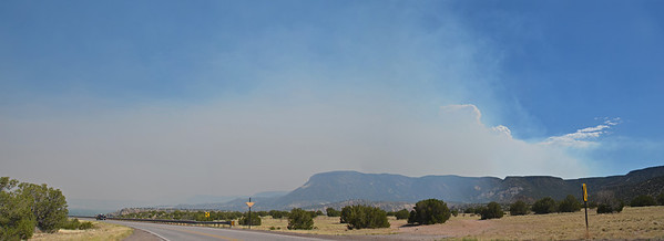 July 1 -  Day 1  New Mexico was experiencing a devastating wildfire; we drove through heavy smoke for several hours. Even with the fires being a couple of hundred miles from here, this was the first we had seen of clear sky.