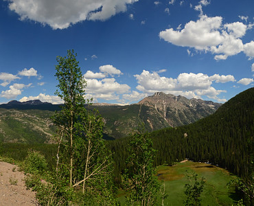 Along the Million Dollar Hwy, Colorado  Day 2 2 shot panorama