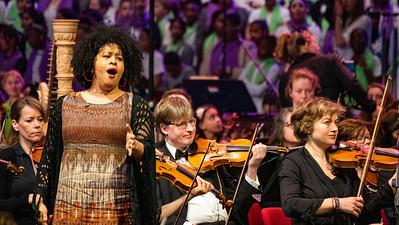 Tania Kross bij Leerorkest in Amsterdam