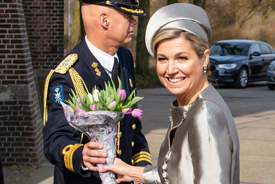 Queen Máxima in the Westergasfabriek Amsterdam