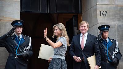 Máxima en Willem-Alexander bij uitreiking Prins Claus Prijs