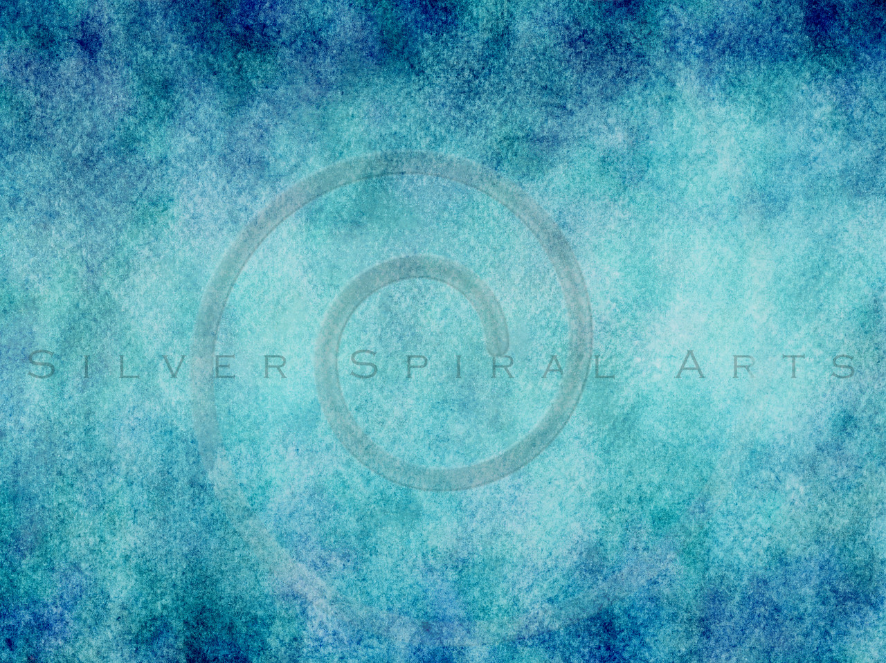 Teal Aqua Blue Watercolor Paper Texture Background