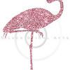 Pink Glitter Flamingo Sparkle Silhouette