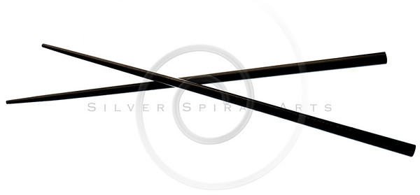 chopsticks in black color isolated on white background