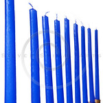 Hanukkah menorah candles isolated
