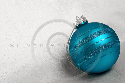 Christmas Ornaments with Glitter Background