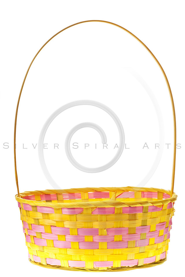 Easter basket isolated