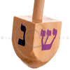 Hanukkah dreidel, isolated on white background.