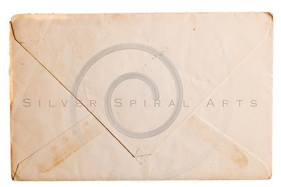 Vintage yellowed envelope