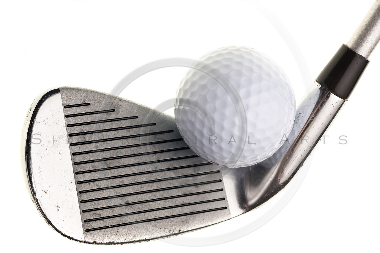 golf club and ball isolated on white