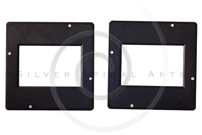 vintage plastic slides isolated on white background