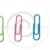 colored paperclips isolated on white.