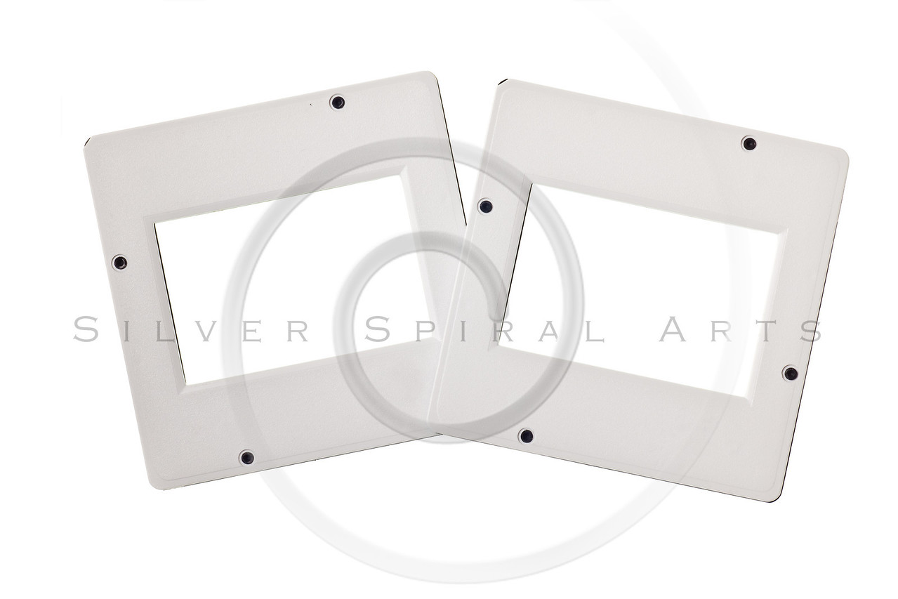 vintage plastic slides isolated on white background