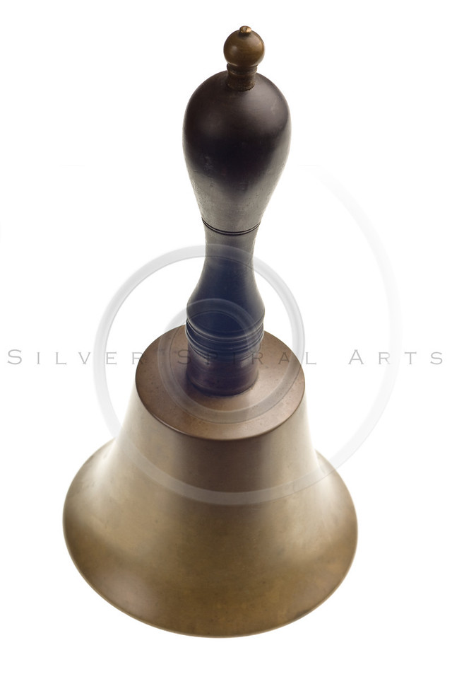 antique brass bell isolated