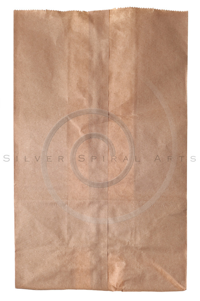 crumpled paper bag background